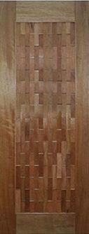 Porta Couro de madeira